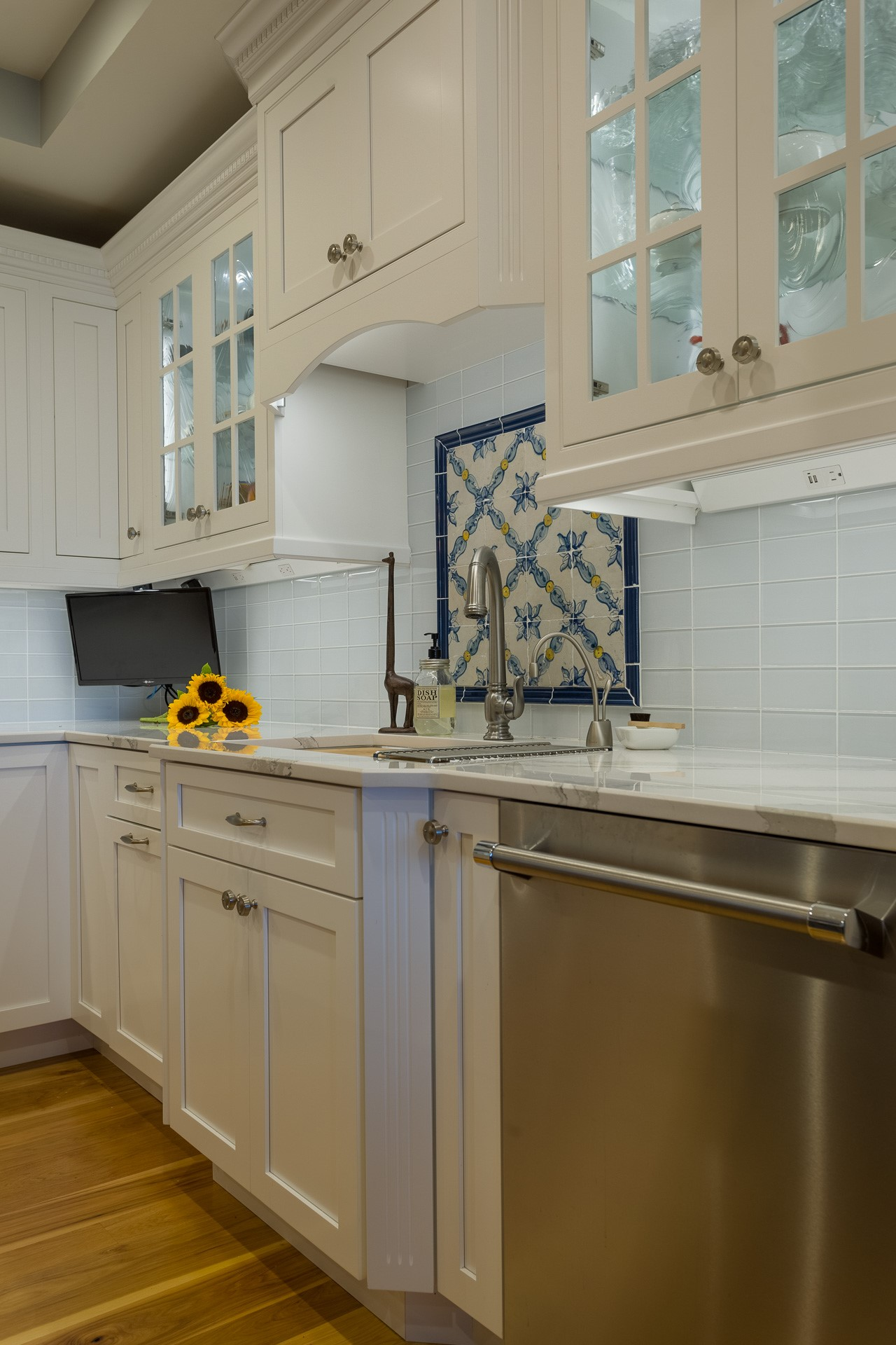 Blue and Yellow Backsplash